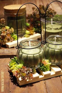 Homemade Candles, How To Make Homemade, Candle Making, Terrarium, Table Decorations, Furniture, Charlotte, Home Decor, Chromotherapy