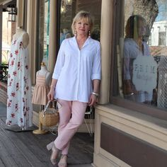 soft colors and fashion for women over 50