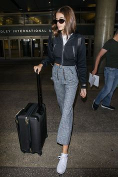 Kaia Gerber found the dressier (but equally as comfortable) alternative to airport leggings. Shop them here.