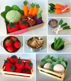 légumes feutrine enfants