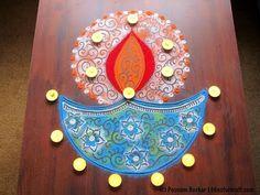 Diya rangoli design for diwali | Innovative rangoli designs by Poonam Borkar - YouTube