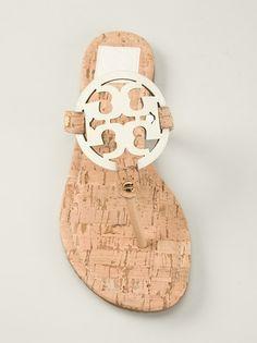 TORY BURCH - embellished flip flops 8