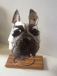 Paper sculpture dog #3