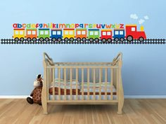 Train Wall Decal- Alphabet Decal - ABC Wall Decal