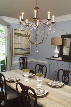 Rustic dining room designed by Chris Hutcheson