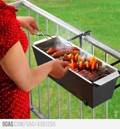 """grill for apartments WHY DIDN""""T WE HAVE THIS YEARS AGO!!! That would have saved us from creating a bonfire in the parking lot with a bottle of vodka and a box of matches.... lol Right Amy?"""