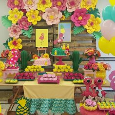 Hawaii Birthday Party, 13th Birthday Parties, 14th Birthday, Flamingo Party, Flamingo Birthday, Tiki Party, Luau Party, Party Decoration, Birthday Decorations