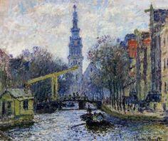 Canal in Amsterdam  Artist: Claude Monet
