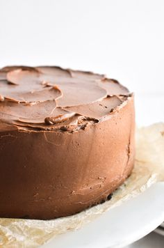 Ina Garten's Chocolate Cake Recipe is the ultimate chocolate layer cake from the Barefoot Contessa herself ~ it makes the perfect birthday cake! Ina Garten Chocolate Cake, Chocolate Mug Cakes, Chocolate Flavors, Chocolate Recipes, 1 Layer Chocolate Cake Recipe, Chocolate Icing, Vanilla Recipes, Sweet Recipes, Baking Recipes