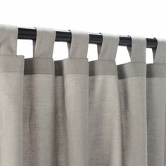 Light Dove Grey Outdoor Tab Top Curtain Panel - Love the color