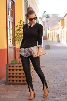 Mujeres cortas y la moda adecuada para un mejor look - estilo casual - estilo urbano - estilo clasico - estilo natural - estilo boho - moda estilo - estilo femenino Fashion Looks, Work Fashion, Office Fashion, Dress Fashion, Fashion Clothes, Fashion Outfits, Mode Chic, Mode Style, Fall Winter Outfits