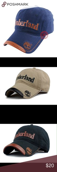 ebe29e57 Timberland Baseball Hat Brand new adjustable Timberland baseball cap!  Colors Available:Gray,Khaki,Black & Blue Timberland Accessories Hats