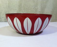 Hey, I found this really awesome Etsy listing at https://www.etsy.com/listing/205794617/cathrineholm-lotus-red-bowl-rare-red