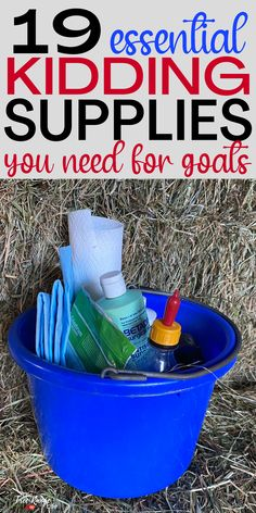 Are you prepared for your goat to deliver? Keep reading to get the complete list of kidding supplies for your goat kidding kit! A must read if you are new to raising goats or kidding your first season