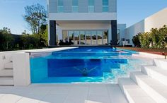 pool with glass walls... yes please!