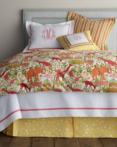 Coverlet with Monogram. so in love with this. so cheerful.