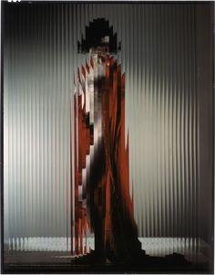Erwin Blumenfeld, 'Lisette Behind Fluted Glass', 1943