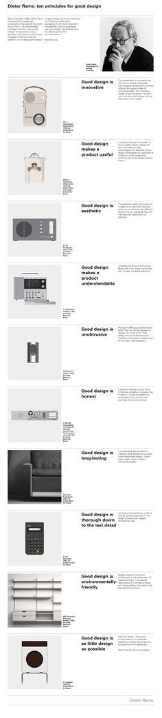 Gracias Dieter Rams // Would be cool to have design principles hanging up, to remind others of the importance of strategic design thinking. Design Thinking, Corporate Design, Area Industrial, Industrial Style, Industrial Stairs, Industrial Windows, Kitchen Industrial, Industrial Apartment, Industrial Living