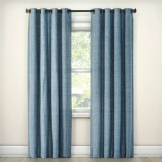 Rowland Blackout Curtain Panel Blue X - Eclipse, Adult Unisex, Size: Navy Blue Curtains, Pleated Curtains, Green Curtains, Hanging Curtains, Window Curtains, Bedroom Curtains, Bedroom Decor, Blackout Windows, Blackout Curtains