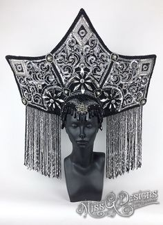Hey, I found this really awesome Etsy listing at https://www.etsy.com/se-en/listing/259544538/black-silver-headdress