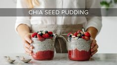 Chia seed pudding is one of my favorite healthy breakfasts and it couldn't be easier to make. Especially when you let the chia seeds soak overnight! This veg...