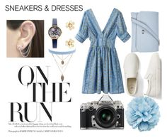 """""""On The Run"""" by anna-lena-6 ❤ liked on Polyvore featuring Gap, Nikon, Topshop, Gucci, Otis Jaxon, Jules Smith, Olivia Burton and Van Cleef & Arpels"""