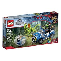 Drive to rescue Gray from a Dilophosaurus Ambush in the LEGO Jurassic World with rear winch and explode function plus 2 mini figures. Save Gray from the dilophosaurus with the Jurassic World Lego Jurassic World, Jurassic Park, Legos, Dinosaur Park, Lego Dinosaur, Buy Lego, Lego Duplo, Lego Ninjago, Lego Toys