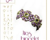 Beading pattern Bracelet tutorial / Atos ..PDF instruction for personal use only