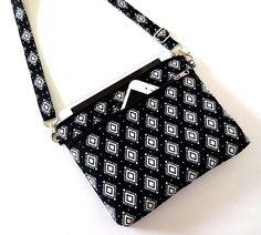 Crossbody Bag, iPhone X, 8, 7, 6S Plus, iPad mini, Galaxy Note, Large Double Zipper Bag, Shoulder Bag-50x2 Selections, Plaid, Floral, Stripe