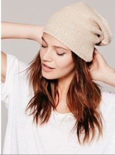 Looking for the perfect fall and winter hat to go with your boho fashion and your bohemian lifestyle? Free people's beige slouch hat has a thermal waffle weave that makes a perfect accessory to casual