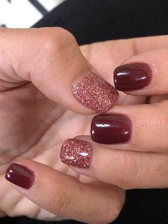 Dip Nail Colors, Sns Nails Colors, Color For Nails, Stylish Nails, Trendy Nails, Cute Nails, Powder Nails, Sns Powder, November Nails
