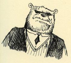 Bear in a suit.
