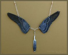 Peregrine Falcon Wings - Leather Necklace by windfalcon.deviantart.com on @deviantART