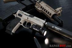 CZ 75B P01 Omega, silencer ready, blurring the carry/duty gun line