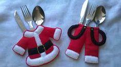 Resultado de imagen para decoracion navideña para cubiertos
