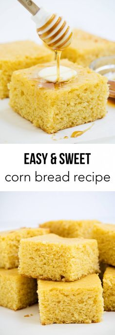 This sweet corn bread is one of my favorites to make during the fall. So easy and yummy! It goes perfect with a hot bowl of chili.