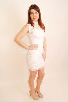 Rochie dama eleganta din dantela White Dress, Dresses, Fashion, Vestidos, Moda, Fashion Styles, Dress, Fashion Illustrations, Gown