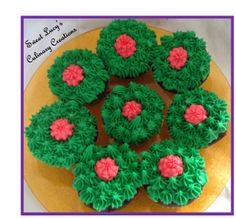 Mexican Hot Chocolate Cupcakes decorated as flowering cacti!  Perfecto for Cinco de Mayo :)