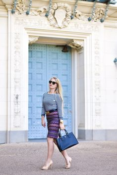 Loving this striped top with the pattern of my Lindex skirt! #ootd #fashion