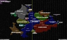 Star Trek - Milky Way, Alpha & Beta Quadrant map