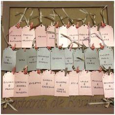 Tableau.. Grigio&rosa.. Targhette, chiavi, nastri.. è molto altro ancora..