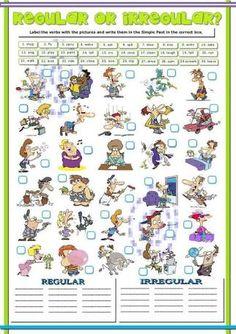 Resultado de imagen para free printable board games to learn english irregular verbs