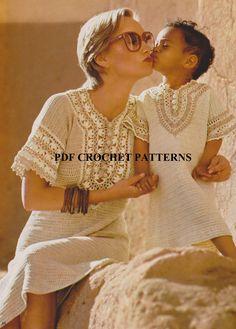 Crochet PDF Pattern Vintage 1970s Mom and by KatnaboxCrochet