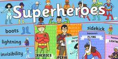 Superhero Role Play Pack- Superhero, superheroes, hero, role