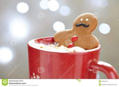 Gingerbread Man Cookies with mustache for Movember or Christmas