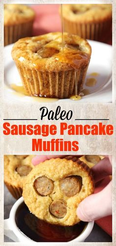 Sausage Pancake Muffins Paleo Sausage Pancake Muffins- easy and so delicious! Gluten free and dairy free.Paleo Sausage Pancake Muffins- easy and so delicious! Gluten free and dairy free. Paleo Pancakes, Pancake Muffins, Breakfast Pancakes, Low Carb Breakfast, Sausage Breakfast, Breakfast Recipes, Pancake Sausage, Breakfast Ideas, Sweet Breakfast