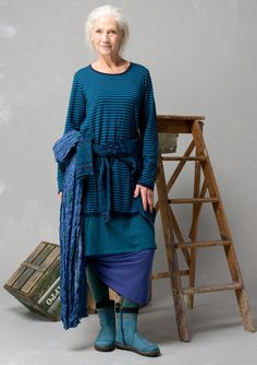 Striped tunic in eco-cotton/wool – Denmark – GUDRUN SJÖDÉN – Webshop, mail order and boutiques | Colourful clothes and home textiles in natural materials.