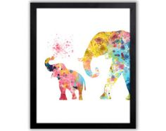olifant met kroon koning olifant illustratie door MadameMemento