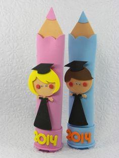 Estojo lápis Formandos 2014-Cortes para Montar  www.petilola.com.br