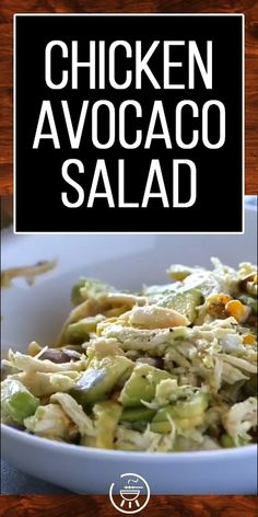 This keto Chicken Avocado Salad is a low carb recipe, perfect as a great dinner. this fantastic keto Chicken Avocado Salad is gluten-free dinner recipes Chicken Avocado Salad (Keto Low Carb) Avocado Recipes, Healthy Salad Recipes, Diet Recipes, Vegetarian Recipes, Cooking Recipes, Keto Avocado, Dessert Recipes, Crockpot Recipes, Recipies